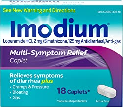 Imodium Multi-Symptom Caplets for Diarrhea Relief with Gas, Bloating & Cramps, 18 ct.