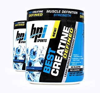 BPI Sports Best Creatine Defined Lean Muscle Hardening Agent, 40 Servings Each (2 Pack) (Blue Crush)