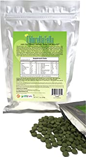 Chlorella Growth Factor (30%CGF) Enriched Pure Natural Taiwan Premier Quality Chlorella Tablets (800 250mg Tabs Per Pack / 7.1oz)