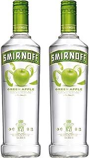 Smirnoff No. 21 Vodka Triple Destilled Flavour Green Apple, 2er, Wodka, Grüner Apfel, Alkohol, Alkoholgetränk, Flasche, 37.5%, 700 ml, 714157
