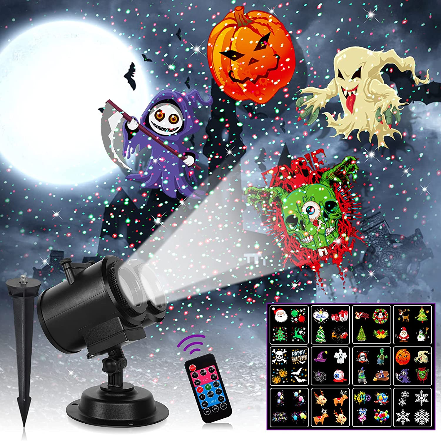 Christmas Projector Lights Fashionable Outpro Patterns LED 12 Max 41% OFF Ligh