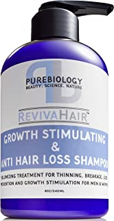 Pure Biology Hair Growth Stimulating Shampoo with Biotin, Keratin, Natural DHT Blockers, Vitamins