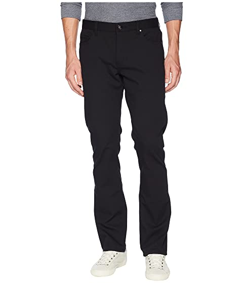 John Varvatos Collection Woodward Slim Straight Jeans in Black