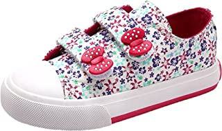 Henraly Sweet Floral Velcro Straps Canvas Sneakers (Toddler/Little Kid)
