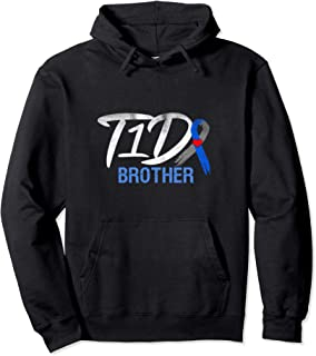 Type 1 Diabetes T1D Brother Ribbon Family Awareness Gift Pullover Hoodie