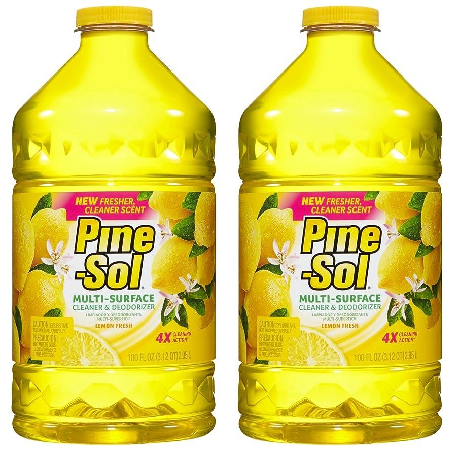 Pine-Sol Multi-Surface Cleaner, Lemon Fresh Scent, 100 oz, 2-Pack