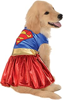"""DC Comics Pet Costume, Supergirl, Small, Neck to Tail 11"""", Chest 17"""""""