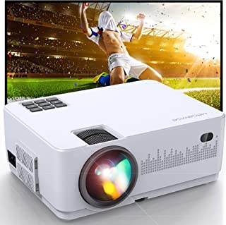 """MegaWise 1080P 200"""" Video Projector, 6000L with 2 Built-in 5W Speakers, 2X HDMI, 2xUSB Ports Portable Movie Projector, Com..."""