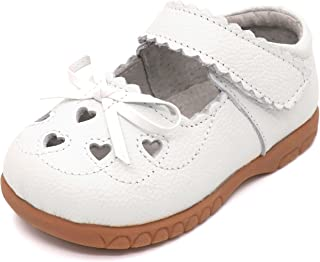 406b32cc12d Femizee Girls Leather Bows Design Soft Round Toe Princess Dress Mary Jane  Flat Shoes(Toddler