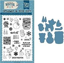 Echo Park Paper Company CW162043 Happy Winter Die & Stamp Set die, Stamp, Red, Blue, Navy, Green, White