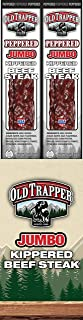 Old Trapper Kippered Beef Jerky, Peppered, 2 Ounce (Pack of 12)