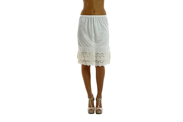 b907bd844b Double Lace Half Slip Satin Skirt Extender- 21