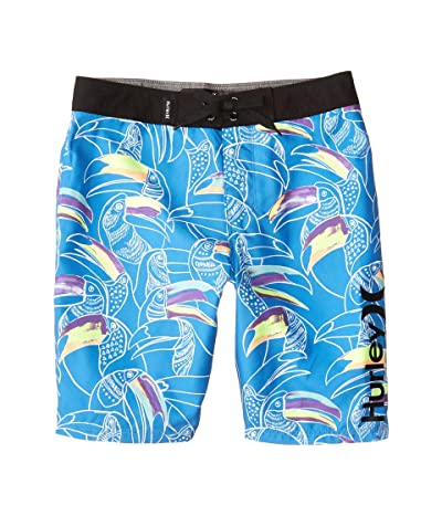 Hurley Kids Basin Beach Birds Boardshorts (Big Kids) (Pacific Blue) Boy