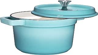 Bruntmor, Enameled Cast Iron Dutch Oven Casserole Dish 6.5 quart Large Loop Handles &..