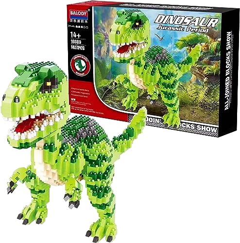lowest Jurassic Dinosaur Tyrannosaurus Rex discount Animal Monster 3D Model DIY Diamond Mini Building Blocks Toy new arrival for Children online