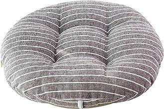 Almofada para cadeira Almofada redonda, Almofada grossa de assento de algodão e linho Almofada de cadeira macia respirável...