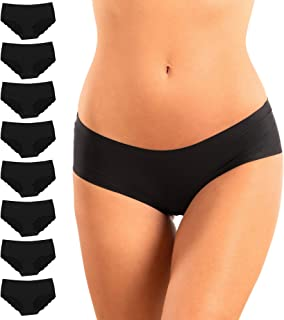 Alyce Ives Intimates Women's Laser Cut No Show Invisible Bikini Hipster Panties, Pack of 8