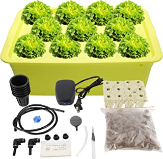 HighFree Hydroponic System Growing Kit for Plants Herb Garden Starter Set 11 Sites DIY Self Watering Indoor Hydroponics To...