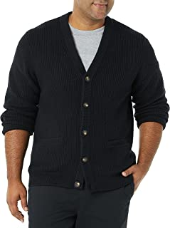 Amazon Essentials Men's Long-Sleeve Soft Touch Cardigan Sweater