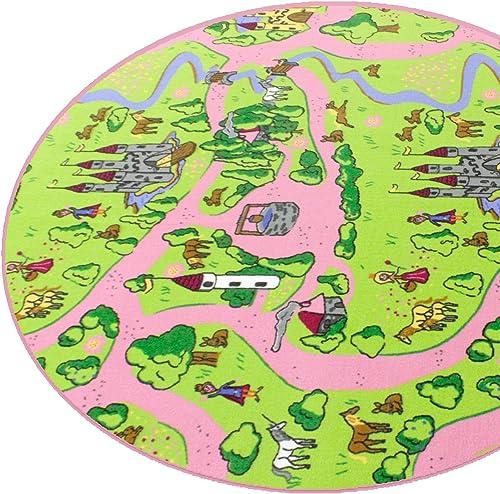 M henland HEVO ädchen Teppich   Spielteppich   Kinderteppich 200x280cm   Oval Oeko-Tex 100