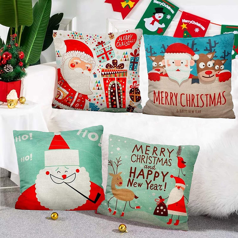 Saisong Christmas Pillow Ranking TOP13 Covers 18X18 Set Plaid 4 Award-winning store Buffalo Far of