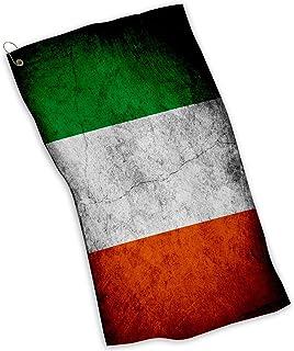 ゴルフ/スポーツ/キッチンタオルの国旗アイルランド–の多くのデザイン–軽量と耐久性マイクロファイバー