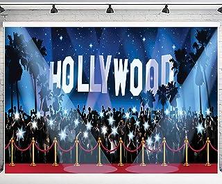 PHMOJEN 10x7ft Hollywood Red Carpet Backdrop Award Ceremony Photo Studio Background Celebration Party Photography YouTube ...