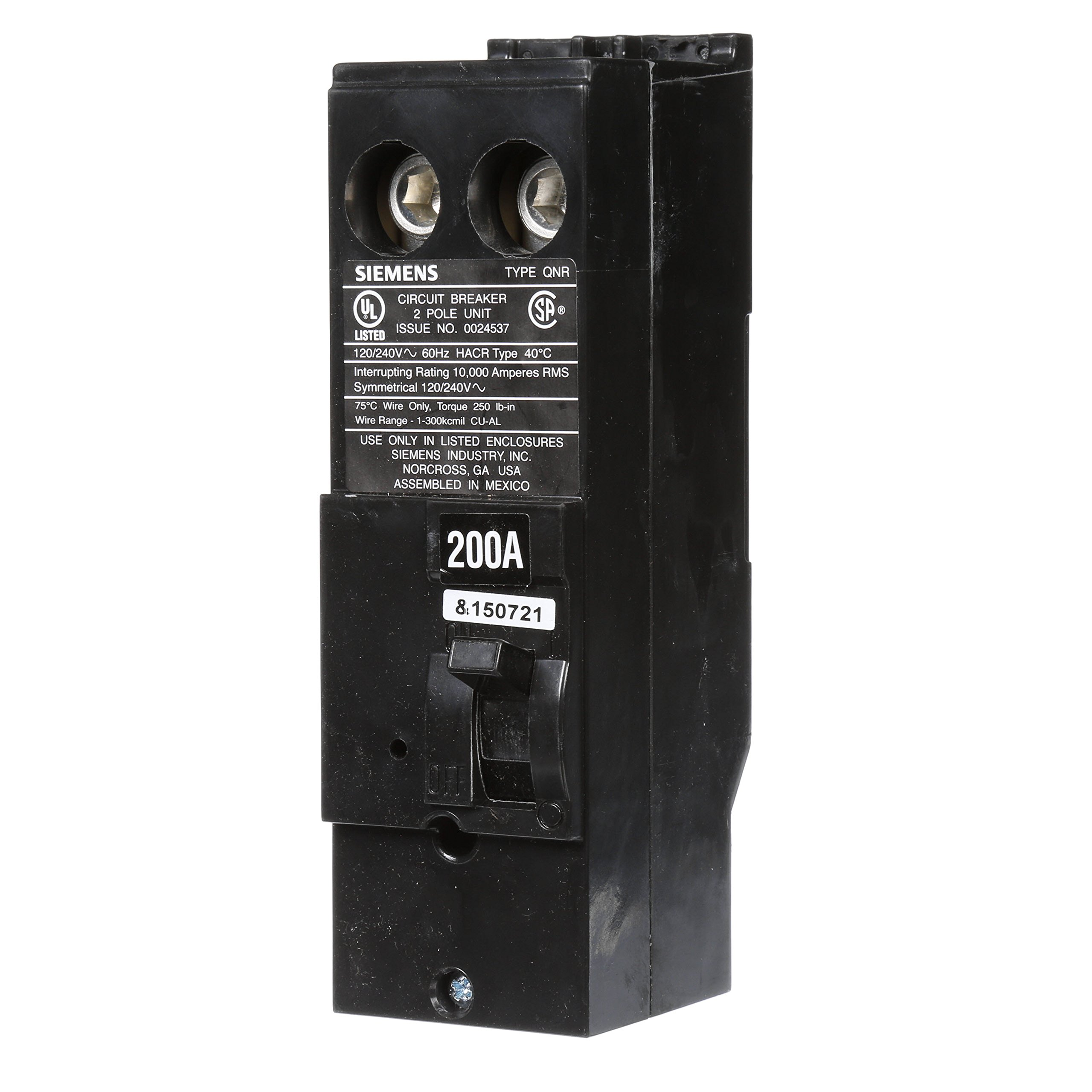 Siemens Q21550CT 50-Amp Double Pole Two 15-Amp Single Pole Circuit Breaker