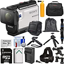 Sony Action Cam HDR-AS300R Wi-Fi HD Video Camera Camcorder & Remote + Mounts + 64GB Card + Battery/Charger + Shooting Grip + Tripod + Case Kit