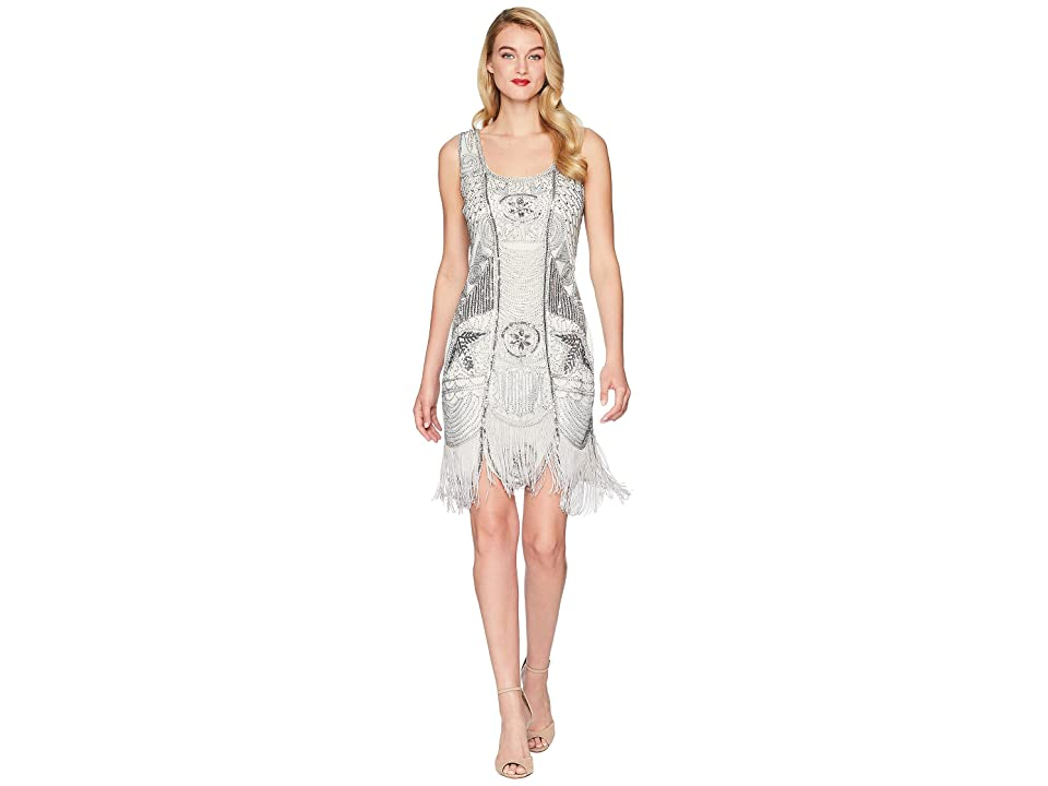 Unique Vintage Camille Beaded Flapper (Ivory/Silver) Women