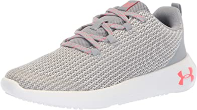 Under Armour Girls'' Ua Ggs Ripple Competition Running Shoes Grey (Overcast Grey/White/Brilliance) 4.5 UK (37.5 EU) (3021523-100-100-5 M US Big Kid),Ua3021523
