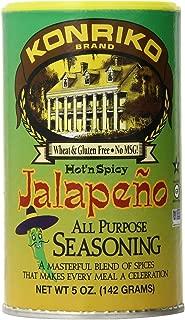 Konriko Jalepeno Seasoning, 5-Ounce Cans (Pack of 6)