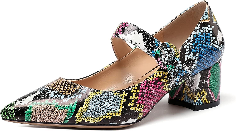 Eldof Women's Pointed Toe Pumps スーパーセール期間限定 Classy Block 2 Inches Heel Chic 祝開店大放出セール開催中