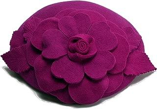 Flower Womens Dress Fascinator Wool Pillbox Hat Party Wedding A083