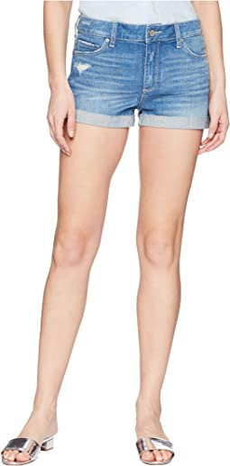 Paige Jimmy Jimmy Shorts w/ Raw Cuff Hem in Finnick Destructed