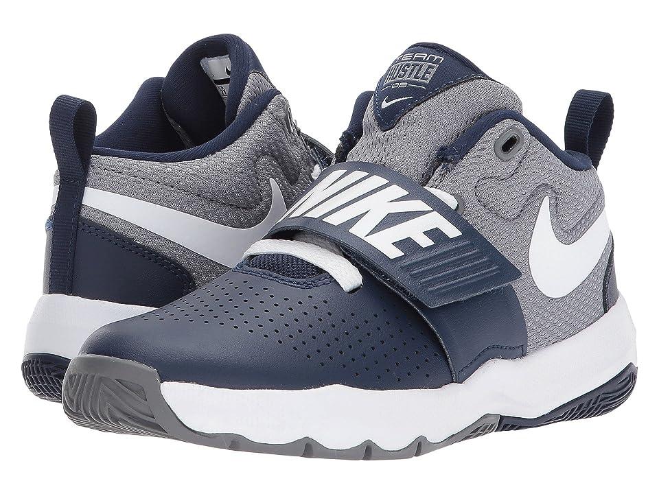 Nike Kids Team Hustle D8 (Little Kid) (Midnight Navy/White/Cool Grey) Boys Shoes