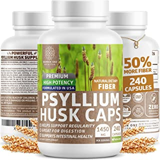 Sponsored Ad - Premium Psyllium Husk Capsules [All Natural & Potent] - Powerful Soluble Fiber Supplement Helps Support Reg...