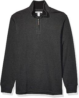 Men's Quarter-Zip French Rib Sweater