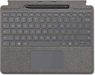 لوحة مفاتيح مايكروسوفت سيرفس برو اكس مع قلم نحيف - بلاتينيوم، 25O-00061