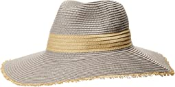 San Diego Hat Company - PBF7310O Fedora w/ Natural Inset And Frayed Edge