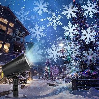 Christmas Projector Lights, Snowfall Snowflakes Christmas Lights, Christmas Projection Lights Outdoor Patio Garden Decorat...