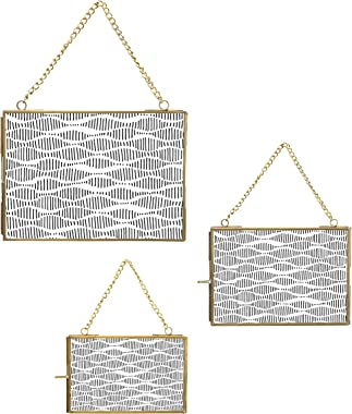 """Main + Mesa Hanging Picture Frames with Metal Chain, Gallery Wall Photo Frames 3-piece Set Includes 8"""" x 10"""", 5"""""""