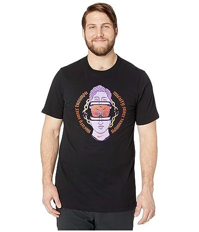 Nike Big Tall Dry T-Shirt Dri-FIT Cotton Footwear Hook (Black) Men