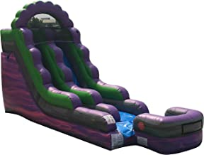 TentandTable 15-Foot Purple Marble Inflatable Water Slide, Wet or Dry, Commercial Grade, 1.5 HP Blower and Stakes Included