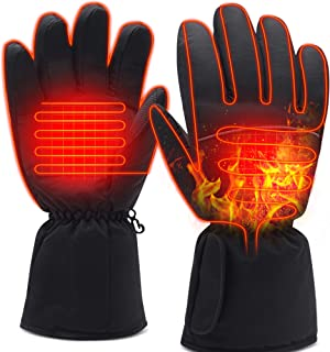 Electric Heated Gloves Rechargeable Battery Powered Hand Warmers Men Women Touch-Screen Skiing Motorcycling Gloves
