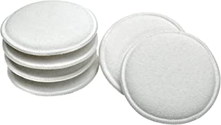 VIKING 986017 Cotton Terry Wax Applicator Pads - 5 Inch Diameter, White, 6 Pack