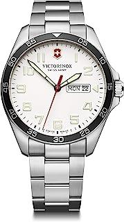 Victorinox - Hombre Field Force - Reloj de Acero Inoxidable de Cuarzo analógico de fabricación Suiza con día/Fecha 241850