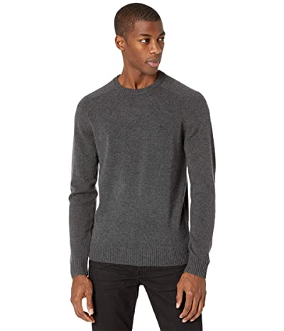 Original Penguin Wool Raglan Crew Sweater (Dark Charcoal Heather) Men