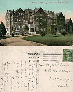 BETHLEHEM PA MORAVIAN COLLEGE & SEMINARY 1911 ANTIQUE POSTCARD