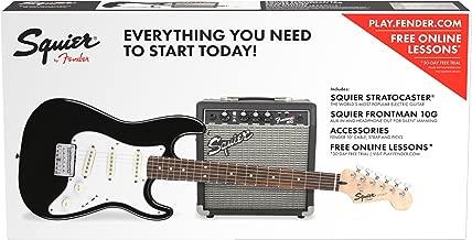 Squier by Fender Standard Stratocaster Beginner Electric Guitar Pack - Short Scale - Black
